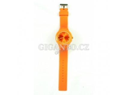 GNT Moderní silikonové hodinky  oranžové