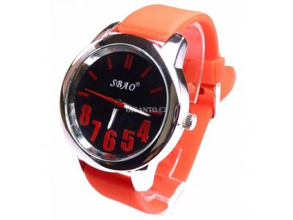GNT Moderní silikonové hodinky červené