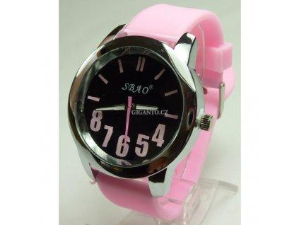 GNT Moderní silikonové hodinky - tmavší růžové