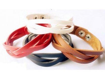 Koženkový náramek Japan Style - 3 barvy