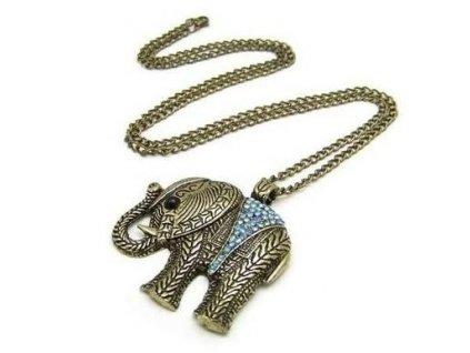 Náhrdelník - přívěsek na řetízku slon