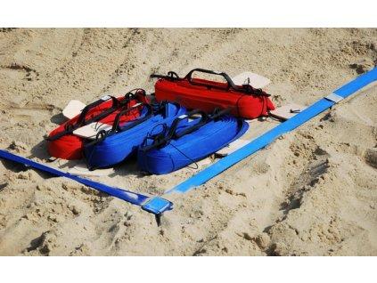 GNT Lajny na Beach volejbal Sport s ukotvením do písku 4cm červené
