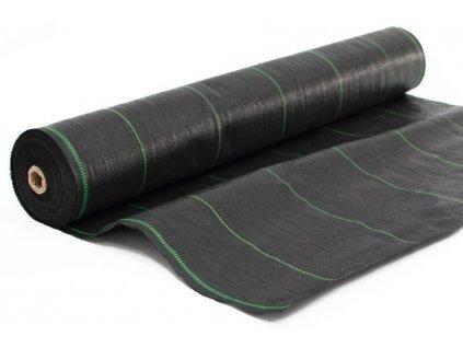 Tkaná mulčovací textilie - role 1,6m x 100m, 90g/m2, černá