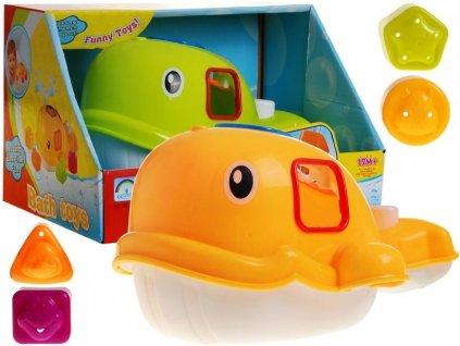 Bath Toys set do vany, velká velryba do koupele