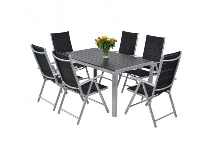 Home&Garden Zahradní sestava Ibiza Pollywod silver/black  II. jakost