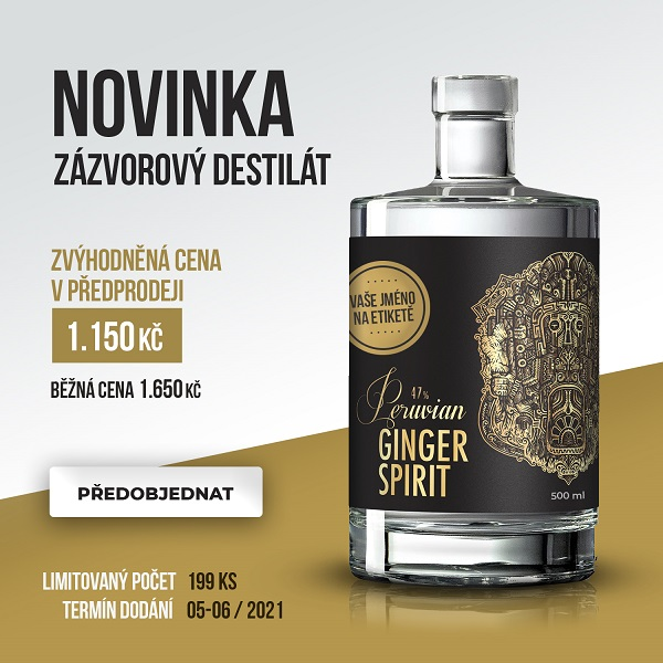 Zázvorový destilát Peruvian Ginger Spirit