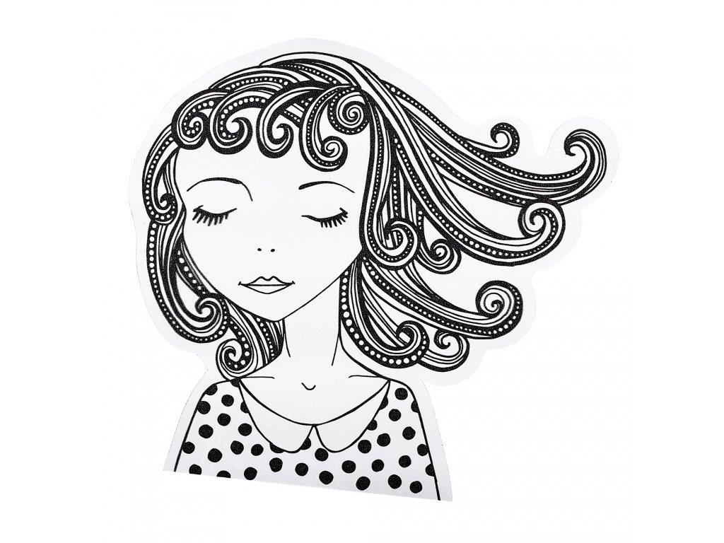 dekorativní samolepky - dívka