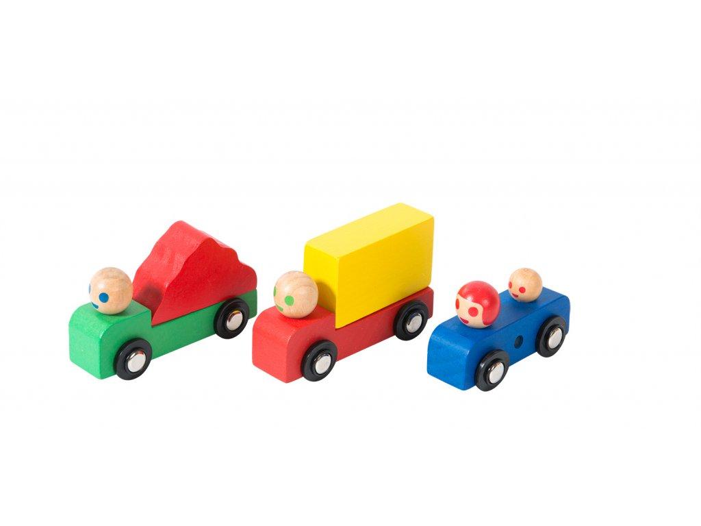 autíčka dřevěné