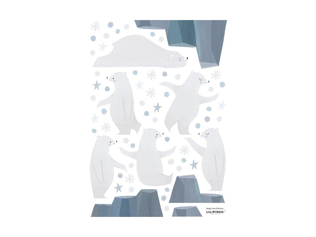stickers enfant bleu ours s1314 a3