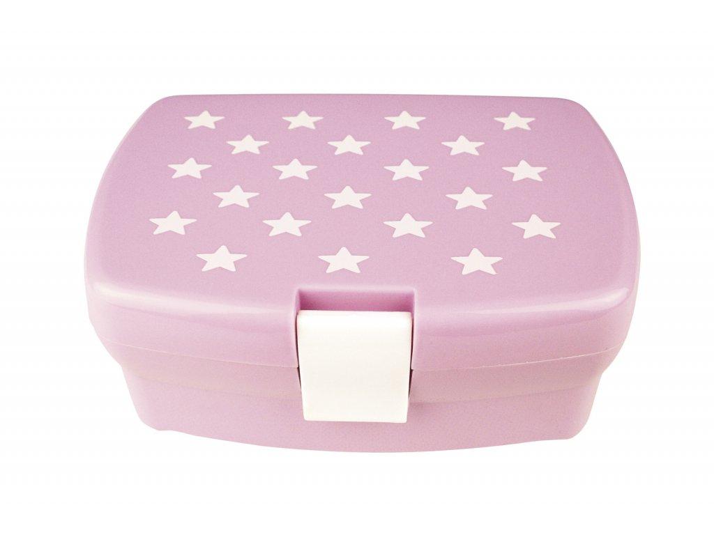 krabička na svačinu hvězdičky růžová