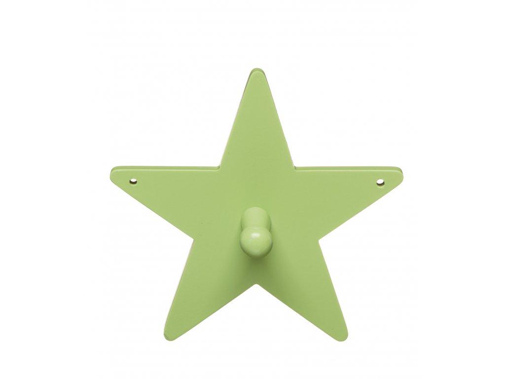 věšák hvězdička zelený
