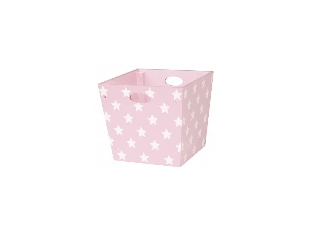 box dřevěný hvězdičky růžový