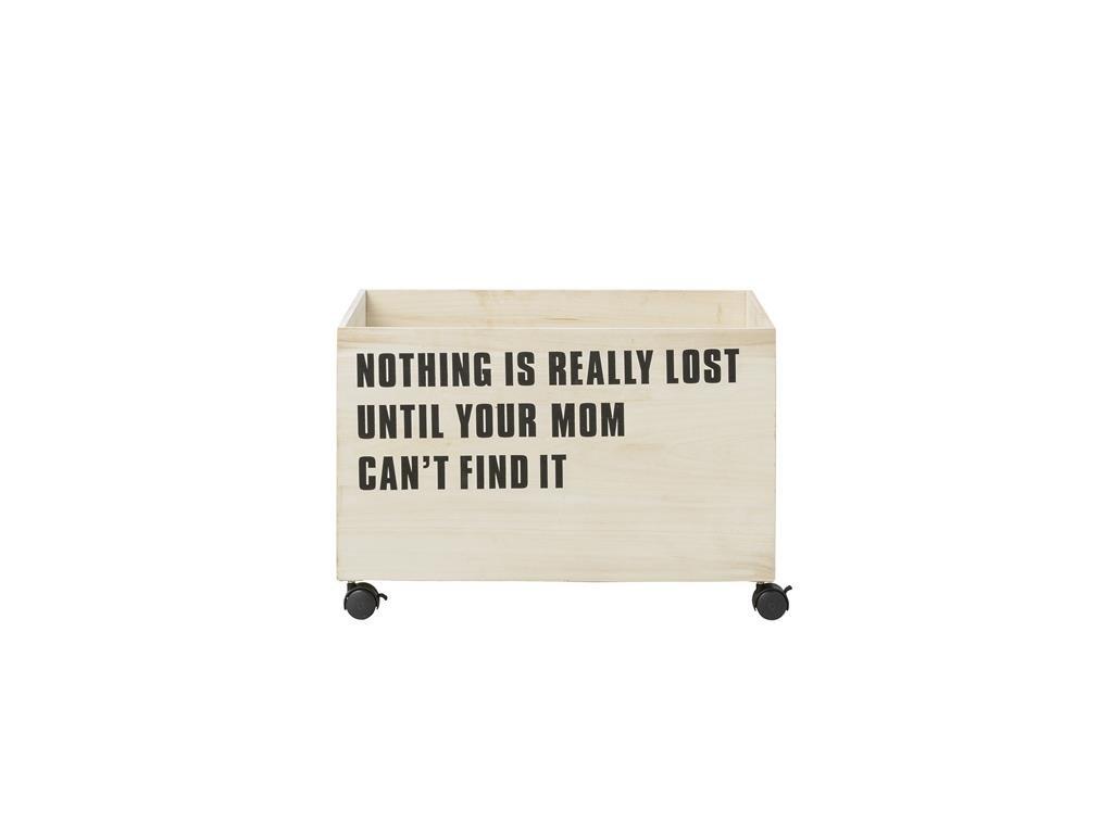 úložný box dřevěný s kolečky