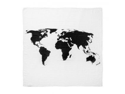 plenka mušelínová multifunkční World map - rozbaleno