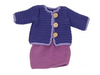 oblečky pro panenku háčkované 40cm