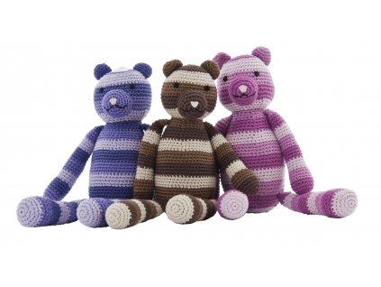 teddy bear 30cm - lilac