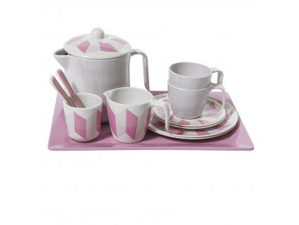 čajový set pro děti, pastel rose
