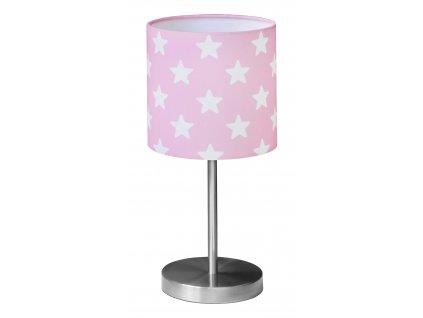 lampa stolní hvězdička růžová