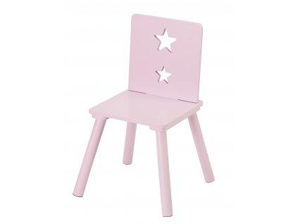 židlička hvězdičky růžová