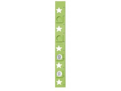 metr s fotkami hvězdičky zelený