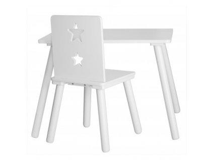 židlička hvězdičky bílá