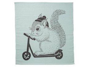 kobereček veverka na koloběžce mátový
