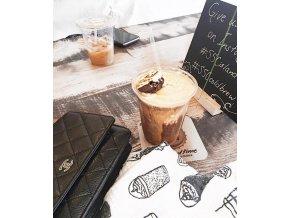 plenka mušelínová multifunkční Coffee Love