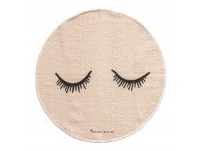 koberec kulatý spící oči