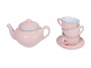 čajový set porcelánový