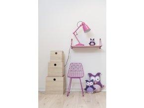 židlička kovová - lilac