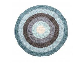koberec háčkovaný pastel blue