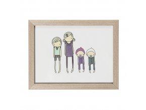 obrázek dřevěný children