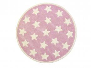 koberec hvězdička růžový