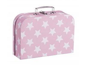 kufříky set 2ks hvězdičky růžový