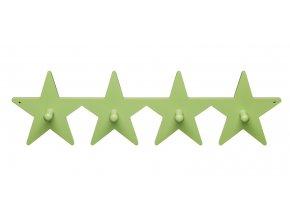 věšák velký hvězdičky zelený