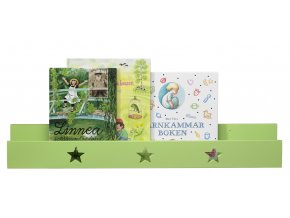 polička na knihy hvězdičky zelené