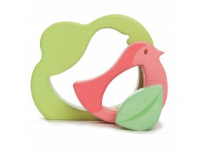 puzzle dřevěné ptáček