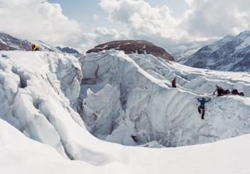 Z turisty horolezcem: Poprvé na ledovci