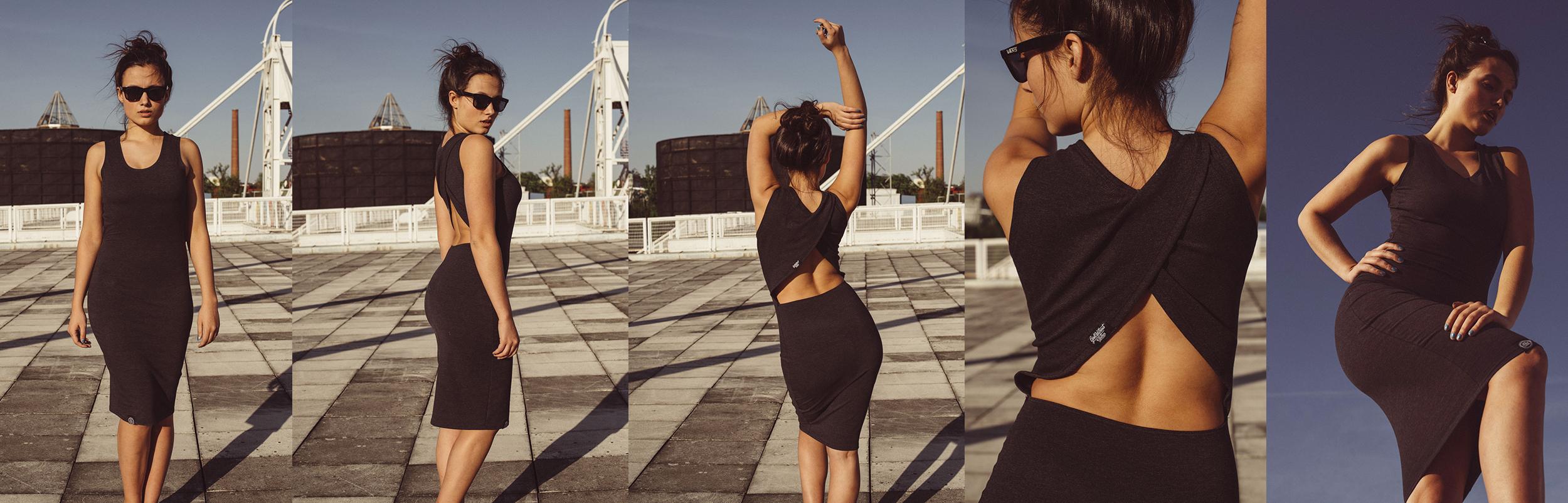Streetové šaty bare Back