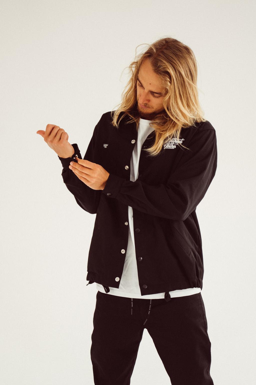 Pánská Coach Jacket s malou typo (černá)
