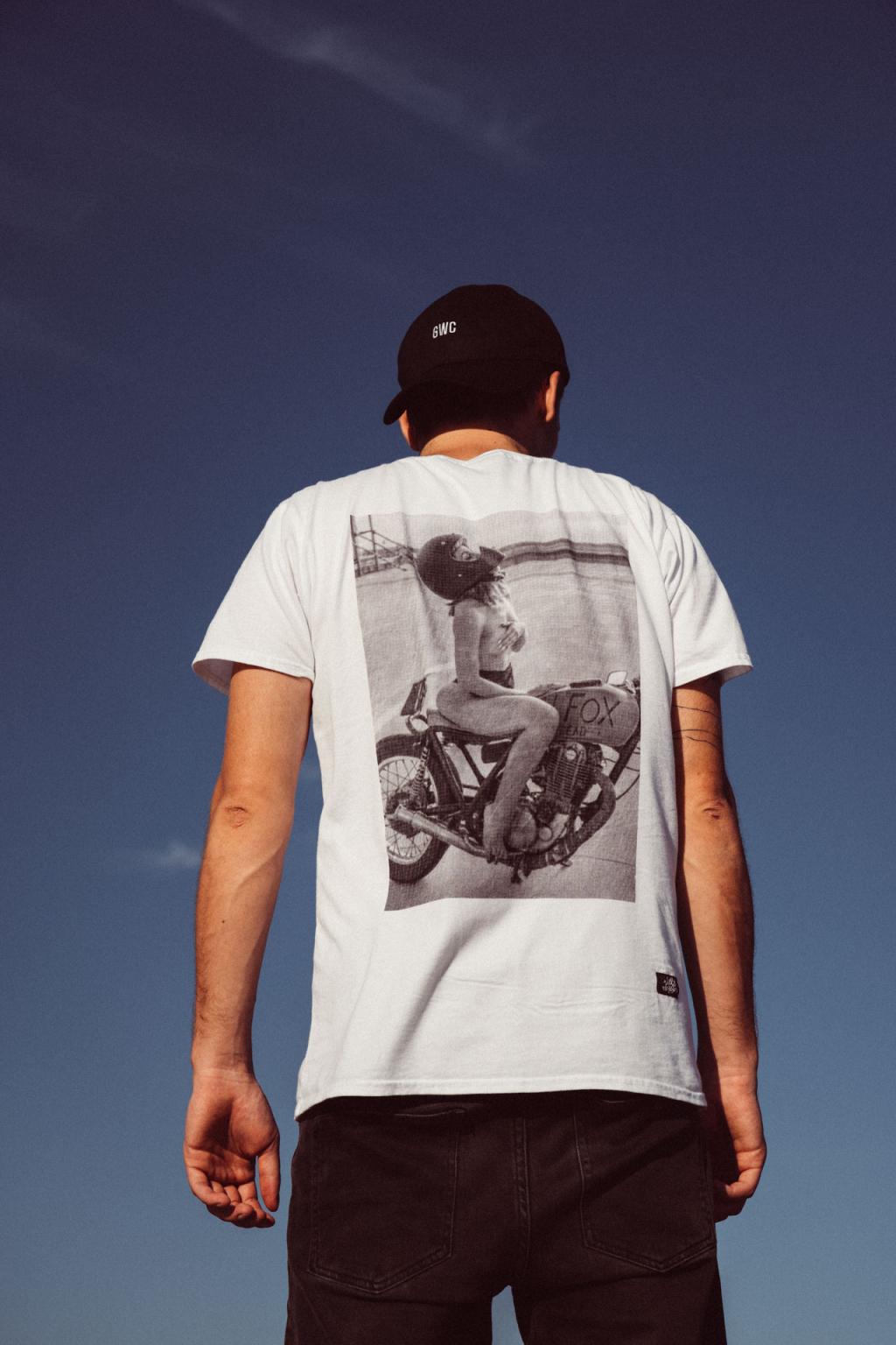 Pánské bílé triko Cara_loves_lingerie Gas & Oil