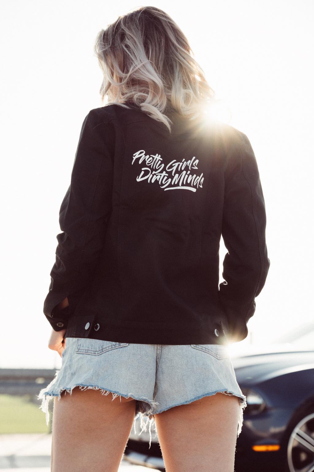 Dámská džínová bunda černá Pretty Girls, Dirty Minds