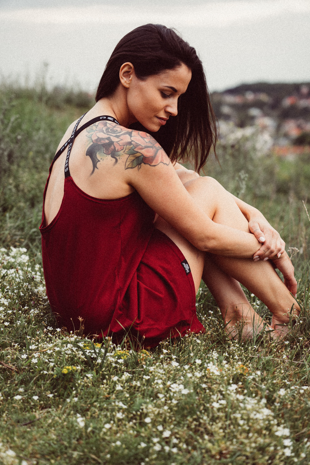 Krátké šaty Lanzarote burgundy