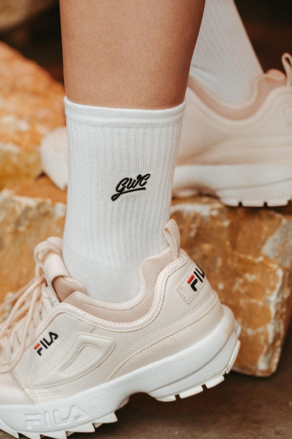 Ponožky, které pomáhají - white