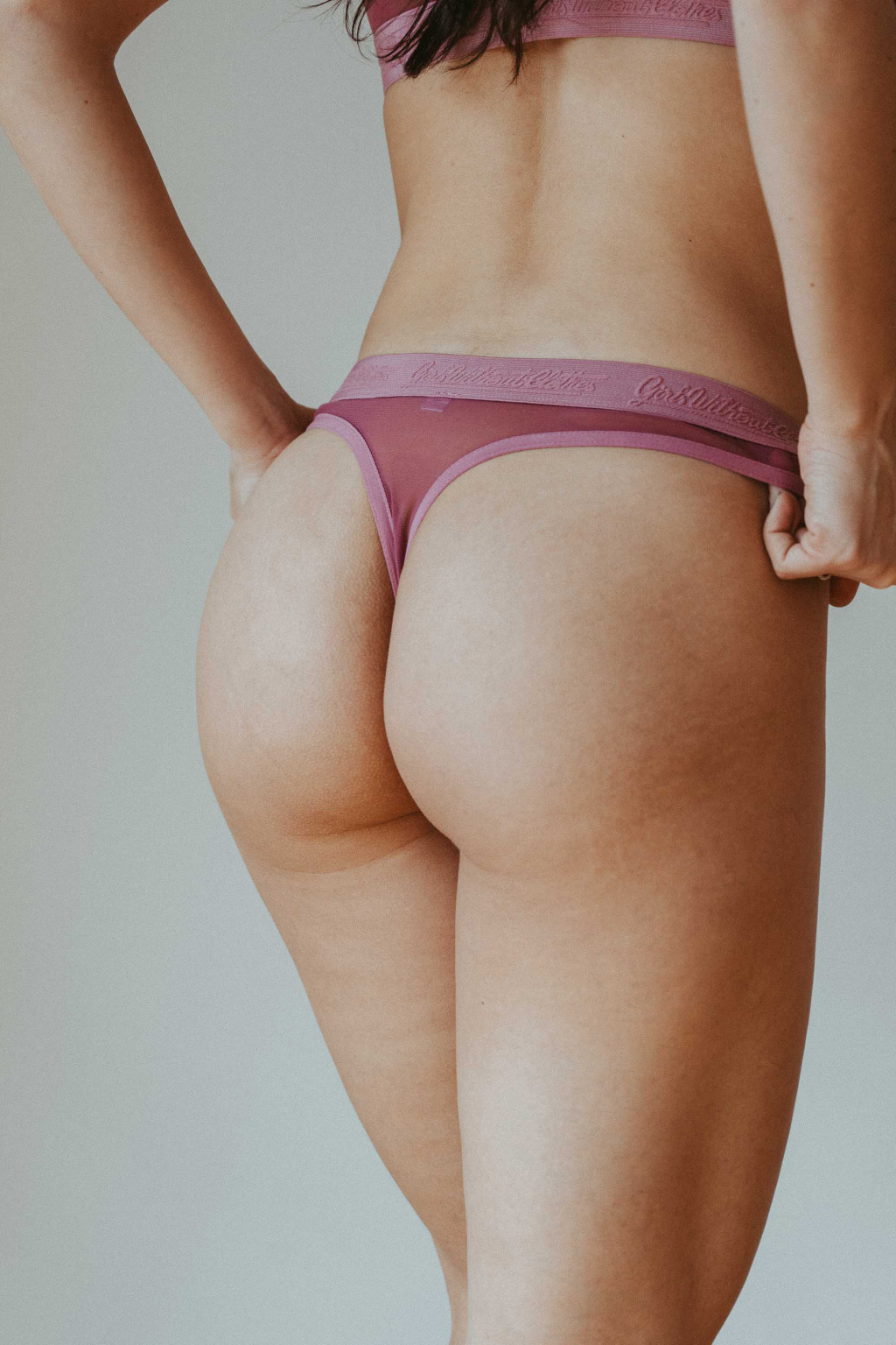 "Tanga ""Sporty"" Burgundy"