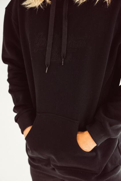 Pánská hoodie s velkou typo Outline (výšivka)
