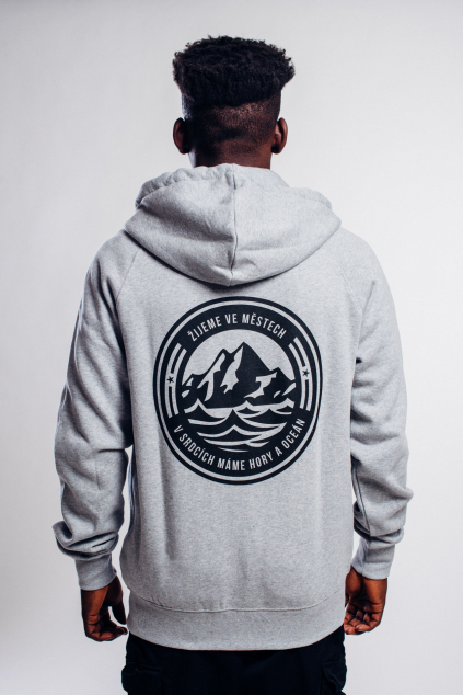 Pánská hoodie Hory & Oceán se zipem