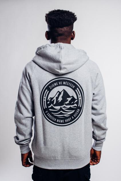 Pánská hoodie Hory & Oceán