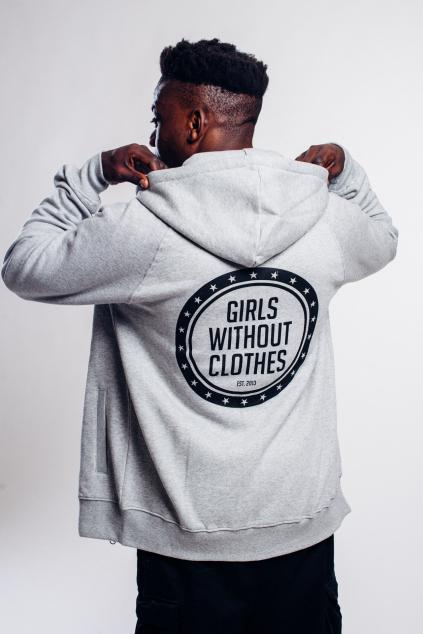 Pánská hoodie s logem a zipem
