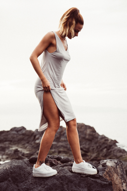 Šaty Tenerife šedé